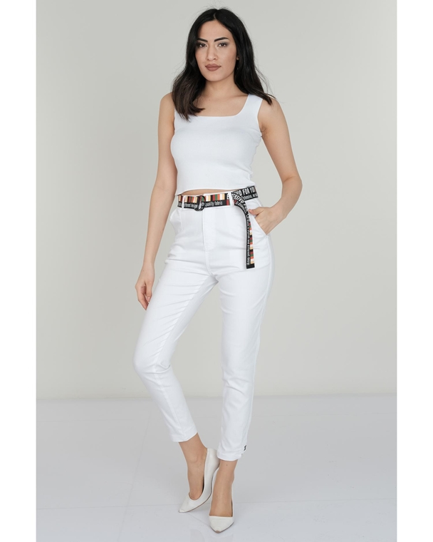 Estensivo High Waist Casual Trousers