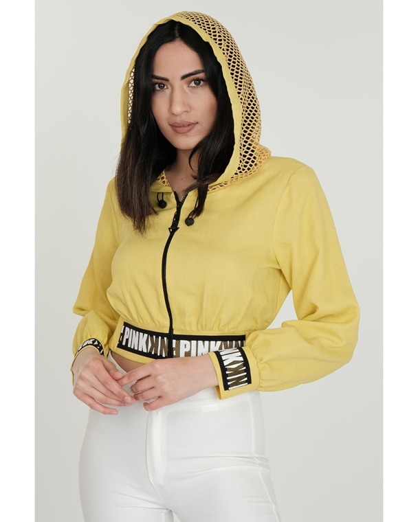 Two'e Hooded Zipped Sporty Sweatshirts