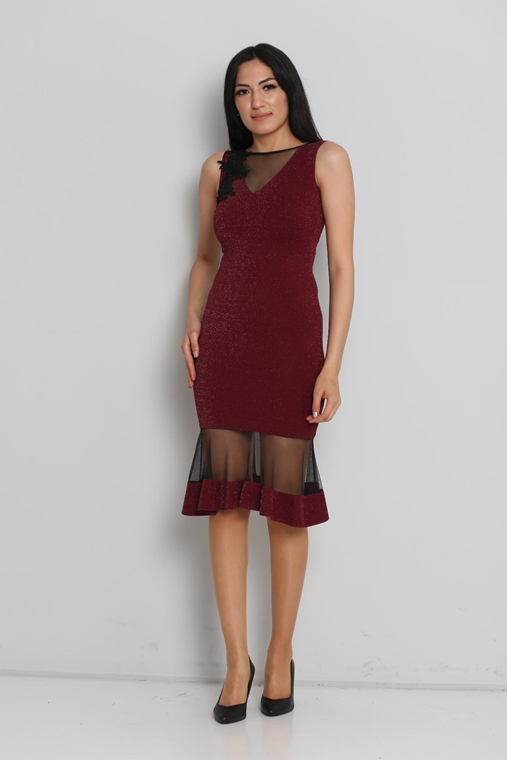 Zola Knee Lenght Sleevless Night Wear Gown Dresses