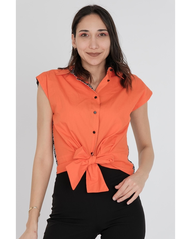 Explosion Sleevless Normal Neck Casual Shirts