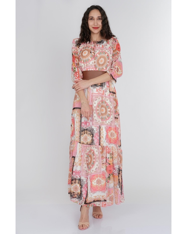 Pole & Pole Maxi Three Quarter Sleeve Casual Summer Dresses