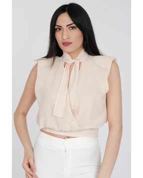 Lila Rose Sleevless V Neck Casual Blouses