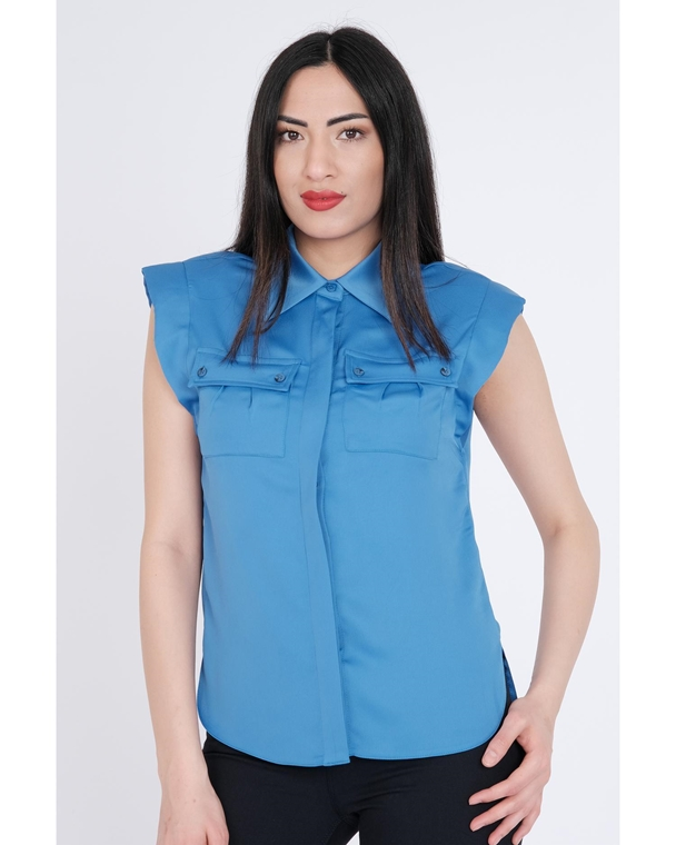 Green Country Sleevless Normal Neck Casual Blouses