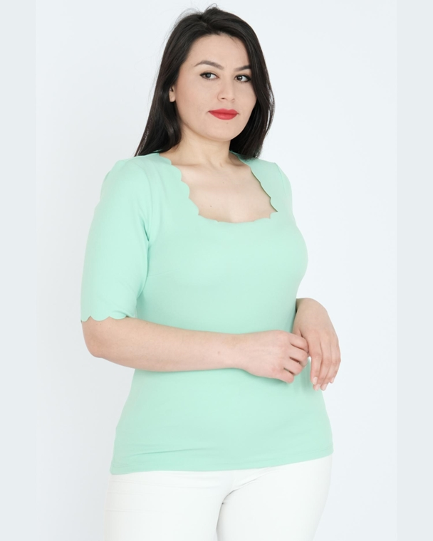Explosion Short Sleeve Square Collar Casual Blouse