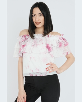 Airport Short Sleeve Boat Neck Casual Blouses