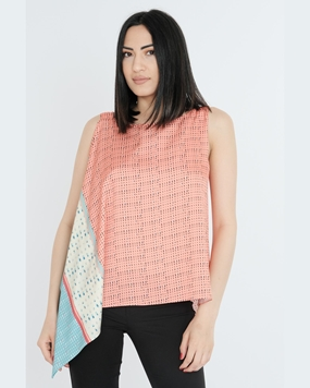 Mianotte Sleevless Crew Neck Casual Blouses