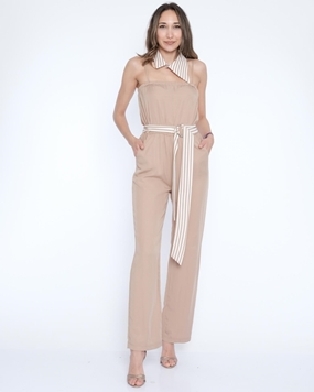 Zola Sleevless Collarless Casual Jumpsuits