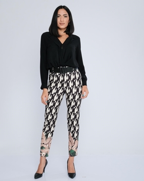 Biscuit High Waist Casual Trousers