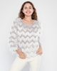 Lila Rose Long Sleeve Crew Neck Casual Blouses