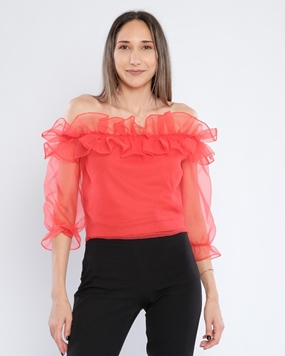 Airport Long Sleeve Boat Neck Casual Blouses