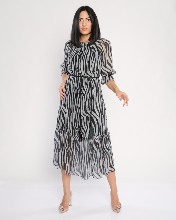 Green Country Maxi Three Quarter Sleeve Casual Dresses