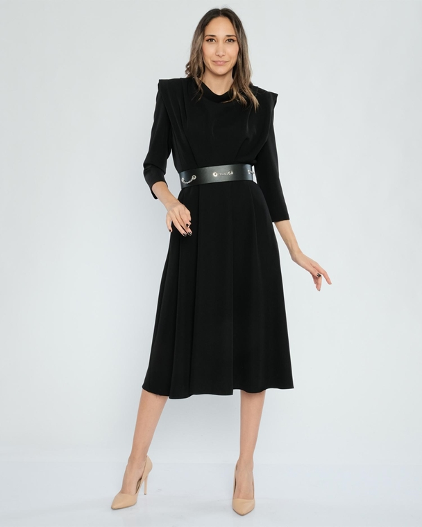 Green Country Knee Lenght Three Quarter Sleeve Casual Dresses