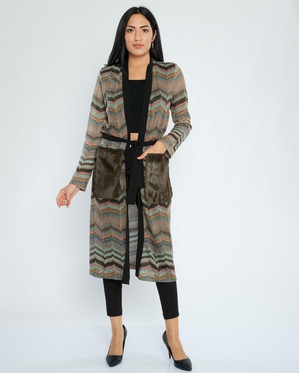 Miarte Belted Casual Cardigans