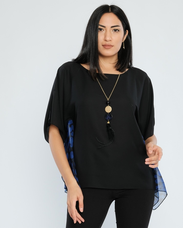 Explosion Three Quarter Sleeve Casual Blouses