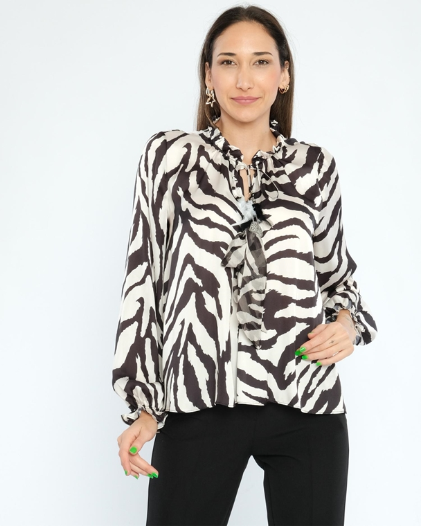 Mianotte Long Sleeve Casual Blouses