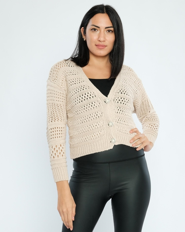 Nisan Buttoned Casual Cardigans