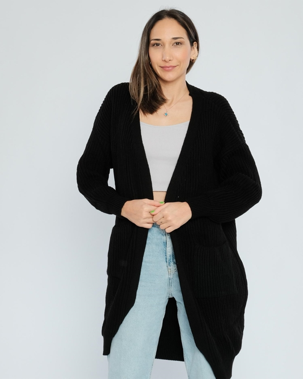 Avrile Open-Ended Casual Cardigans