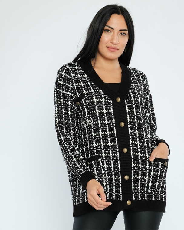 Avrile Without Hood Buttoned Casual Cardigans