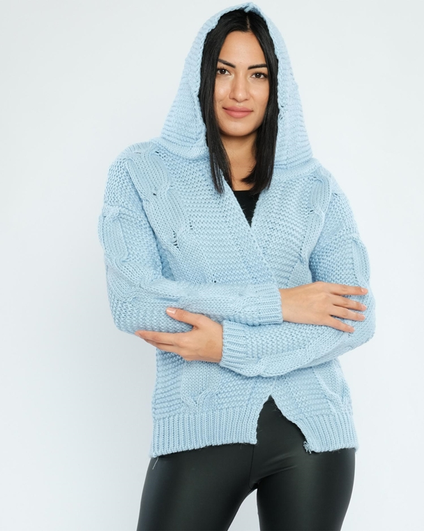 Parkhande Hooded Open-Ended Casual Cardigans