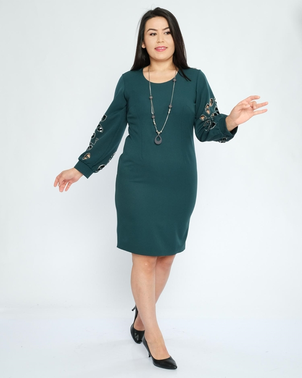 Miss Eos Knee Lenght Long Sleeve Casual Dress