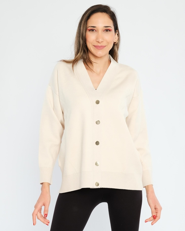 Neva Buttoned Casual Cardigans