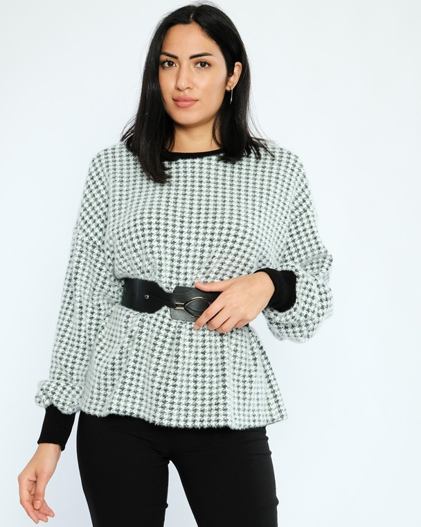 Favori Long Sleeve Crew Neck Casual Blouses