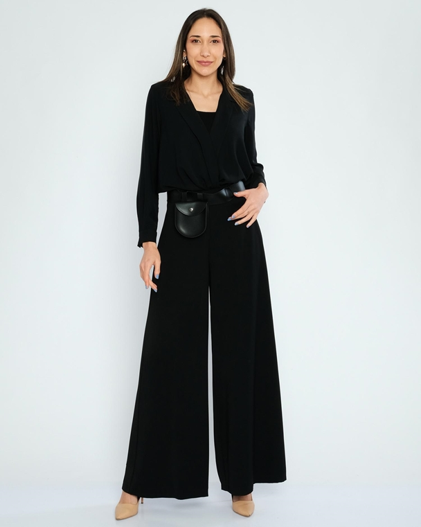 Excuse High Waist Casual Trousers