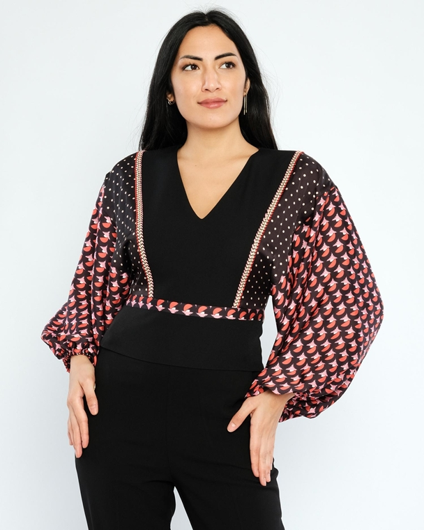 Mianotte Long Sleeve V Neck Casual Blouses