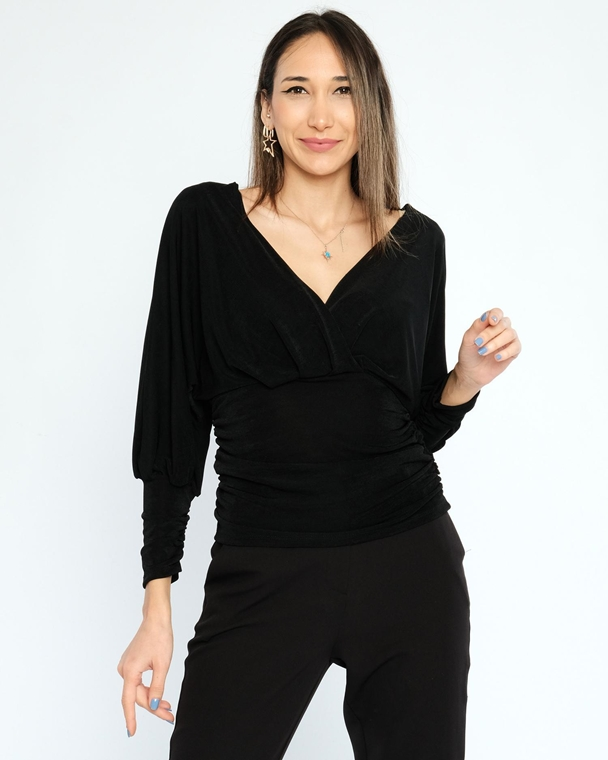 Explosion Long Sleeve V Neck Casual Blouses
